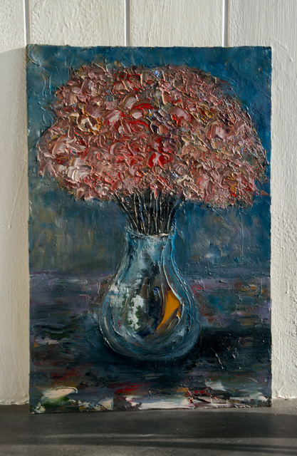 Anna Riazantceva  'Flowers In A Vase', created in 2016, Original Painting Oil.