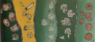 Artist: Sabrina Bianco - Title: vegetables - Medium: Acrylic Painting - Year: 2011