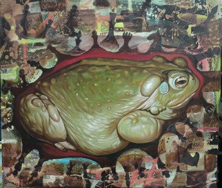 Ikram Sadikov: 'Calm', 2011 Oil Painting, Psychedelic.       Oil, canvas. / oil canvas sadikov ikram painting toad nhess art animal psychedelic     ...
