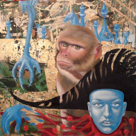 Ikram Sadikov: 'Color dream', 2012 Oil Painting, Psychedelic. Artist Description:  Oil, canvas. / oil canvas sadikov ikram painting monkey art animal ...
