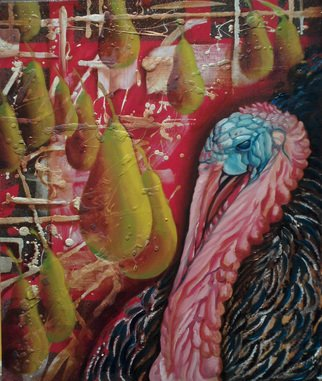 Ikram Sadikov: 'Dream Chavchadze', 2011 Oil Painting, Psychedelic.      Oil, canvas. / oil canvas sadikov ikram painting turkeys art animal     ...