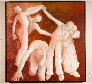 Artist: Rosalba Saenz. Lugo. - Title: LOS DESVINCULADOS - Medium: Acrylic Painting - Year: 2004