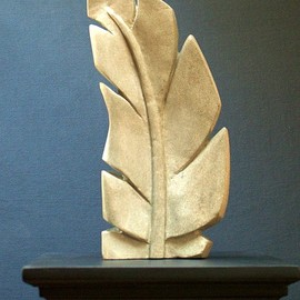 Gabriella Sarlos: 'feather', 2017 Stone Sculpture, Abstract. Artist Description: Sandstone contemporary sculpture The stone is local British Columbia stone from southern Gulf Islands ...