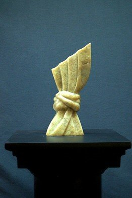 Gabriella Sarlos: 'wheat sheaf', 2017 Stone Sculpture, Abstract. Artist Description: Brucite abstract sculpture...