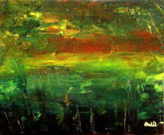 Gopal Weling Artwork monsoon10, 2008 Oil Painting, Abstract Landscape