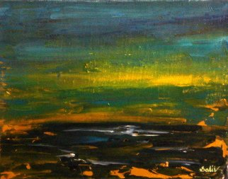 Gopal Weling Artwork monsoon7, 2008 Oil Painting, Abstract Landscape