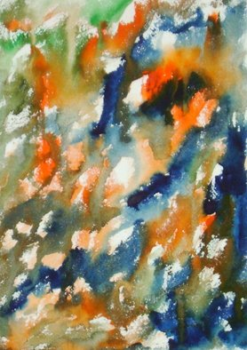 Gopal Weling Artwork stonescape8, 2007 Watercolor, Abstract Landscape