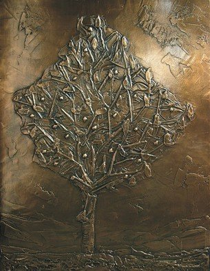 Bronze Sculpture by Sali Shkupolli titled: Tree of Kosova, created in 2000