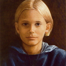 Yoli Salmona: 'Alban', 1996 Oil Painting, Children. Artist Description:  The beautiful peacefulness of a 10 year old boy.  ...