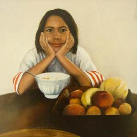 Yoli Salmona: 'Anna', 1998 Oil Painting, Children. Artist Description: Oil on canvas...