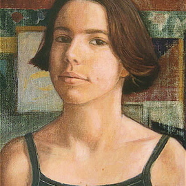 Yoli Salmona: 'Anna older', 2002 Oil Painting, Children.