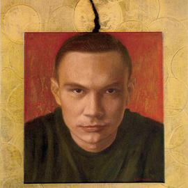 Yoli Salmona: 'Kostya Tsyu Icon', 2001 Oil Painting, Portrait. Artist Description: When I approached Kostya to paint his portrait, he was preparing for another fight in America, had no time for Art. I can say that I sat for him, more than he sat for me.I sat for days, to observe him training, and to get an insight ...