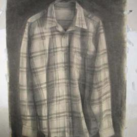 Salvatore Victor Artwork  stripedshirt, 2005 Charcoal Drawing, Representational