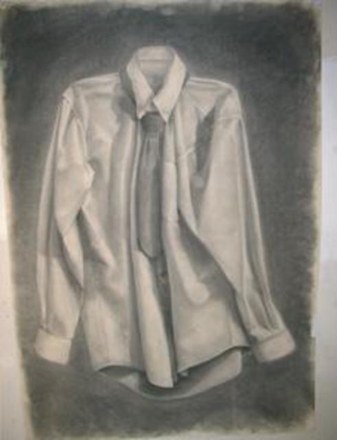 Salvatore Victor  'Sans Hanger', created in 2005, Original Drawing Charcoal.
