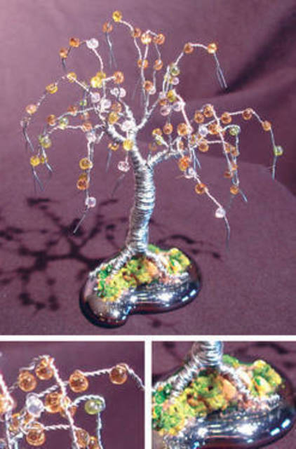 Sal Villano Beaded Willow Wire Tree Culpture 2011