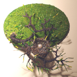 Sal Villano Artwork Bird Nest No  6 Wall Art Sculpture , 2010 Mixed Media Sculpture, Nature