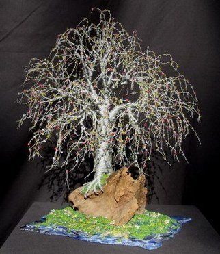 Sal Villano: 'Bonsai Island,  Wire Tree Sculpture ', 2008 Mixed Media Sculpture, Landscape.  Bonsai Island # 2 - Wire Tree Sculpture Wire Tree Sculpture- 13