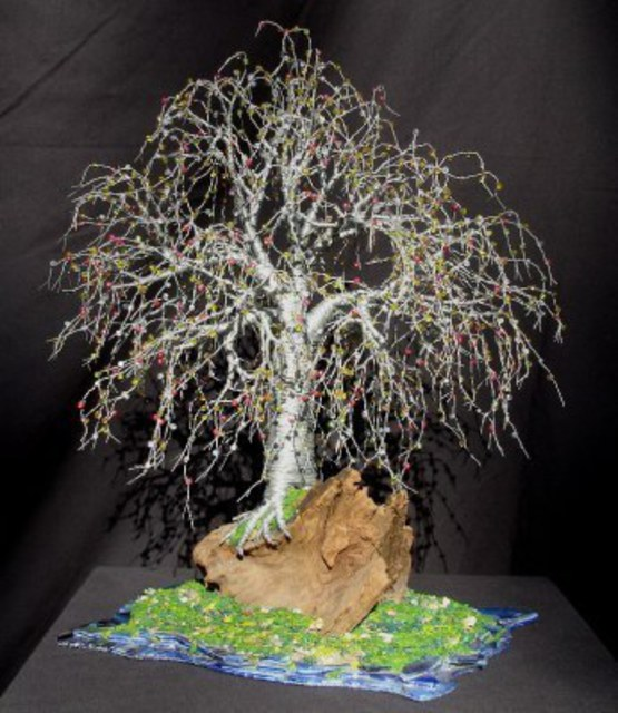 Bonsai Island Wire Tree Sculpture Wire Type Sculpture By Sal Villano Absolutearts Com