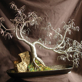 Sal Villano Artwork Cascade Number  3,  Wire Tree Sculpture , 2007 Mixed Media Sculpture, Landscape