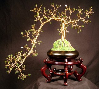Sal Villano: 'Jade Cascade Number 1, Wire Tree Sculpture', 2006 Mixed Media Sculpture, Landscape.  Jade Cascade # 1 - Wire Tree Sculpture17
