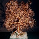 Kristallnacht  Tree of Life  wire tree sculpture By Sal Villano
