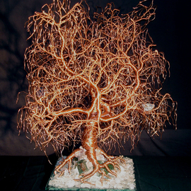 Sal Villano Artwork Kristallnacht  Tree of Life  wire tree sculpture, 2015 Wire Sculpture, Religious