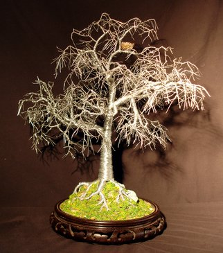 Sal Villano Artwork Winter Bird Nest   wire tree sculpture, 2011 Steel Sculpture, Nature