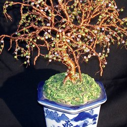 , Beaded Bonsai Wire Sculpt, Trees, $304