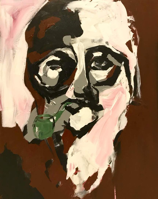 Samira Nikfarjam  'Man With Pipe', created in 2018, Original Painting Acrylic.