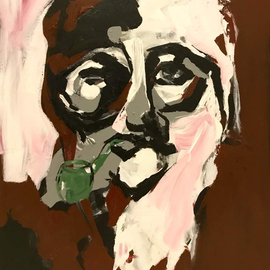 Samira Nikfarjam: 'man with pipe', 2018 Acrylic Painting, People. Artist Description: No Comment...