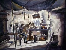 - artwork Food_stall-1220545116.jpg - 2004, Watercolor, Figurative