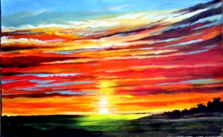 Sunset Acrylic Painting by Acrylic Paintings Sunset