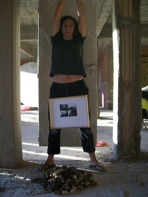 Maria Sevastaki: 'Art Died', 2009 Color Photograph, Philosophy. Artist Description:  Performance 2009 , , Stories of Peoples''  ...