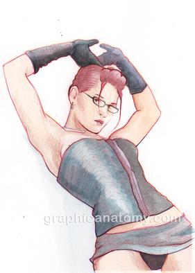 Artist: Sam Thorp - Title: Lauren - Medium: Watercolor - Year: 2013