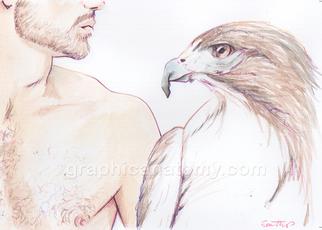 Artist: Sam Thorp - Title: Spirit Animal - Medium: Watercolor - Year: 2013