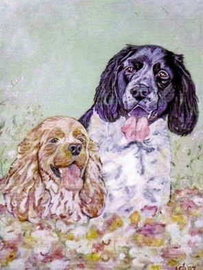 Acrylic Painting by Sandi Carter Brown titled: Fred and George, 2009