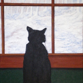 Sandi Carter Brown: 'Moogy', 2014 Acrylic Painting, Cats. Artist Description:                            Personal Collection                          ...