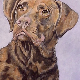 Sandi Carter Brown Artwork Seamus, 2007 Acrylic Painting, Dogs