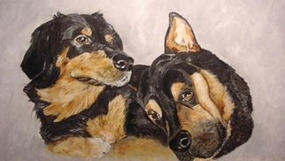 Sandi Carter Brown: 'Susie and Sully', 2012 Acrylic Painting, Dogs. Artist Description:          Commission Pet Portrait Series        ...