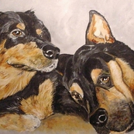 Sandi Carter Brown Artwork Susie and Sully, 2012 Acrylic Painting, Dogs