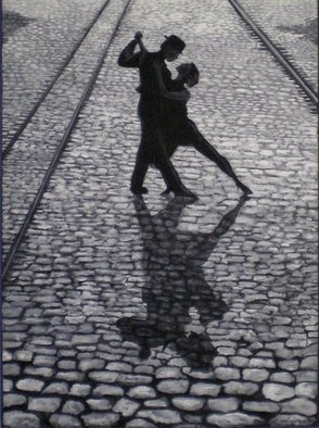 Acrylic Painting by Sandi Carter Brown titled: Tango, 2008
