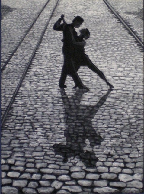 Tango Acrylic Painting By Sandi Carter Brown