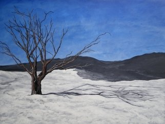 Acrylic Painting by Sandi Carter Brown titled: Winter Tree, 1993