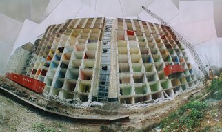 Artist: Sandra Maarhuis - Title: Building in Utrecht, the Netherlands - Medium: Color Photograph - Year: 2008