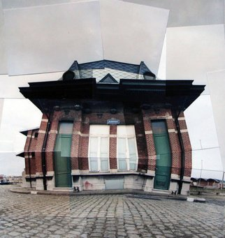 Color Photograph by Sandra Maarhuis titled: Little house in Antwerpen, Belgium, 2007