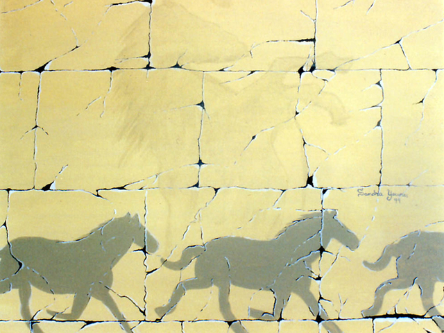 Sandra Younes  'Running Shadows', created in 2000, Original Painting Acrylic.