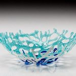 aqua coral bowl By Sandy Feder