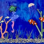 clownfish deep blue sea By Sandy Feder