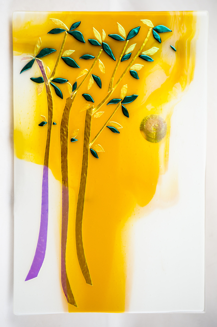 Sandy Feder  'Summer Trees', created in 2016, Original Glass Fused.
