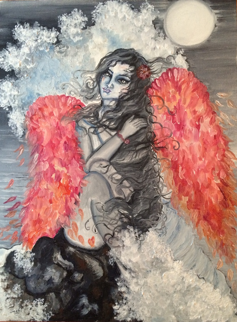 Sangeetha Bansal  'Calm Angel', created in 2015, Original Mixed Media.